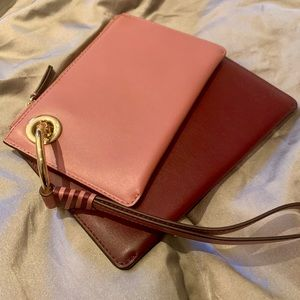 Michael Kors leather  clutch set